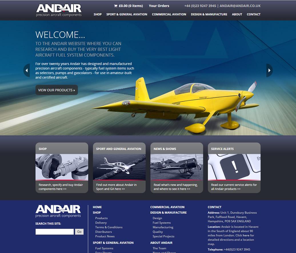 Andair - branding, content & eCommerce website