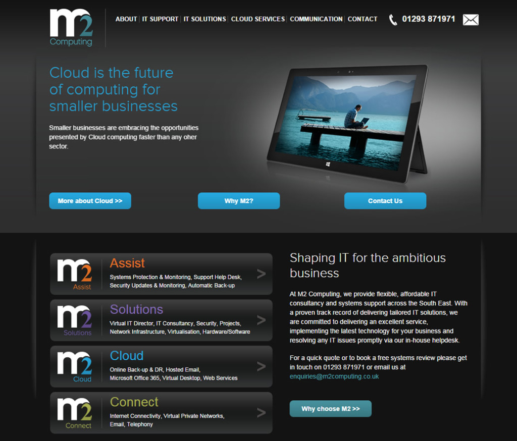 M2 Computing - marketing, branding & website